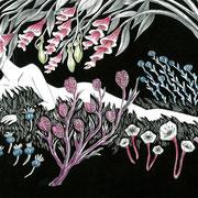 「ウツボカズラの甘い息」装画 柚月裕子著 幻冬舎