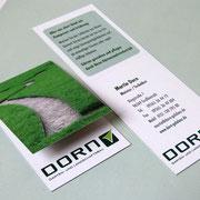designgrund - Visitenkarte Klappkarte Dorn - Garten- und Landschaftsbau in Coburg