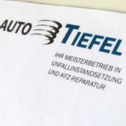 Logo und Geschäftsausstattung für Auto Tiefel