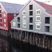 Trondheim; maisons sur pilotis