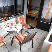 Ferienwohnung Anna Maria - Balkon mit Sitz- Liegemöglichkeit
