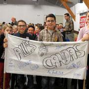 Les supporters de l'école de Candas étaient là
