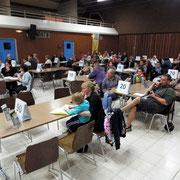 70 personnes ont assisté à la soirée; un peu moins qu'en 2013
