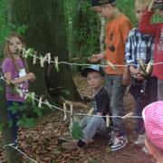 Waldprojektwoche mit der Kita Schönningstedt
