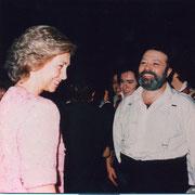 Los Miserables, con la Reina Sofía - 546 funciones interpretando a  Jean Valjean 1993