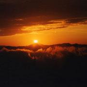 Tramonto sul Cimone visto da Livergnano. Foto di Bruno