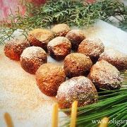 Schokokugeln mit Haselnuss und Olivenöl.