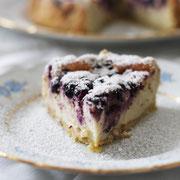 Himmlischer Heidtelbeer-Quarkkuchen.