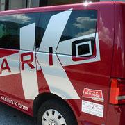 VW-Bus Beklebung Mario K - nie mehr zu übersehen!