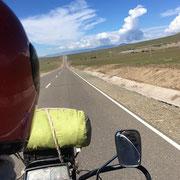 meine Aussicht vom hinteren Platz auf dem Motorrad