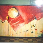 Karola Fels, Künstlerin, Malkurs, Köln, Lindenthal - Gleichgewicht 2, 1997 - Acryl