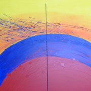Karola Fels, Künstlerin, Malkurs, Köln, Lindenthal, Karola Fels - Komposition II, 2008 - Acryl