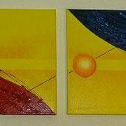 Karola Fels, Künstlerin, Malkurs, Köln, Lindenthal, Karola Fels - 4er Komposition, 2007