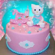 Тортик на 1 год с Китти