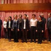 Dudelange (Luxembourg), remise des prix du concours international d'orgue (septembre 2011)