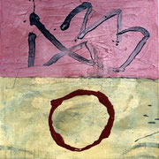Hans Schubert, O.T.  Acryl auf Leinwand 110x100cm