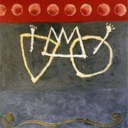 Hans Schubert, O.T.  Acryl auf Leinwand 210x200cm