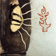 Hans Schubert, O.T.  Acryl auf Leinwand 160x150cm