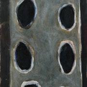 Hans Schubert, O.T.  Acryl auf Leinwand 180x90cm, 2011