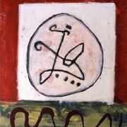 Hans Schubert, O.T.  Acryl auf Leinwand 130x110cm