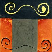 Hans Schubert, O.T.  Acryl auf Leinwand  100x100cm