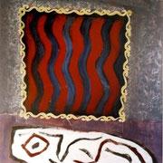 Hans Schubert, O.T.  Acryl auf Leinwand 120x100cm