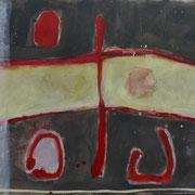 Hans Schubert, O.T.  Acryl auf Leinwand 200x105cm, 2011