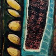 Hans Schubert, O.T.  Acryl auf Leinwand 180x100cm