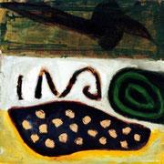 Hans Schubert, O.T.  Acryl auf Leinwand 50x50
