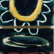 Hans Schubert, O.T.  Acryl auf Leinwand 100x50cm
