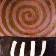 Hans Schubert, O.T.  Acryl auf Leinwand 130x100cm
