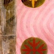 Hans Schubert, O.T.  Acryl auf Leinwand  190x90cm (vk)