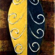 Hans Schubert, O.T.  Acryl auf Leinwand  240x120cm