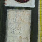 Hans Schubert, O.T.  Acryl auf Leinwand 180x90cm, 2007