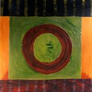 Hans Schubert, O.T.  Acryl auf Leinwand 130x130cm
