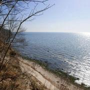 Blick vom Steilufer am Nordperd