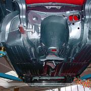 Mercedes Restaurierung (280 SE Flachkühler Cabrio, 5-Gang-Schaltgetriebe)