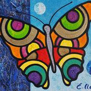 "Edda Clasen, ""Mariposa azul"", 30 x 40 cm"