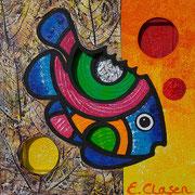 """Edda Clasen, """"Goldfish"""", 30 x 30 cm, 3D"""