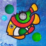 "Edda Clasen, ""Bluefish"", 30 x 30, 3D"