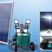 ソーラーバッテリー&投光器『レボルトSolar』