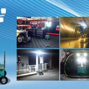 小型急速充電バッテリーBOX&LED投光器『レボルト』