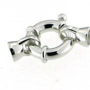 Chiusura in argento con coppette