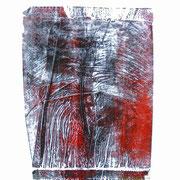 federn - druck auf papier - 30 cm x 40 cm