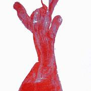 bewegte hand- druck auf papier - 30 cm x 40 cm