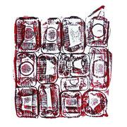 mischung- druck auf papier - 30 cm x 40 cm