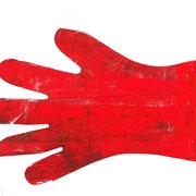 hand - druck auf papier - 30 cm x 40 cm