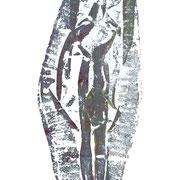 frau - druck auf papier - 30 cm x 40 cm