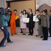 終了後、テレビ愛媛のPR番組収録も…