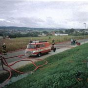 Einsatzübung Möbel Seidel in Auerbach                                                                   Foto: B.Seidel